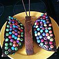 Gâteau papillon et gâteau coccinelle