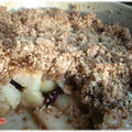 Crumble pomme rhubarbe cranberries