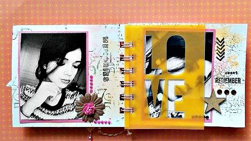 Mini-album avec le mini kit surprise de février-Par carolec