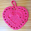 Grand coeur au crochet