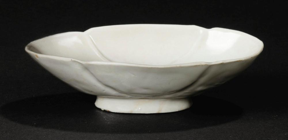 A Xing-style lobed bowl, Five Dynasties (907-960)