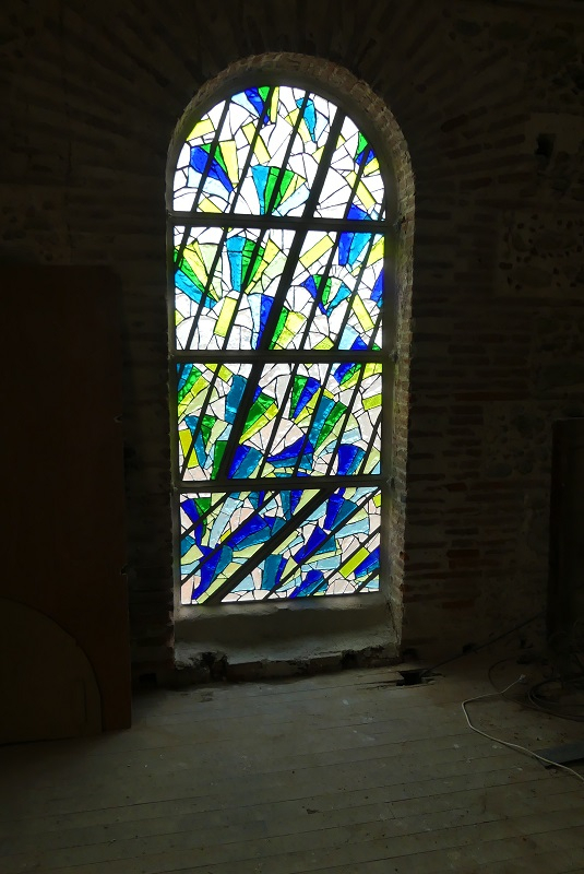 Le vent - Vitrail en dalle de verre - Clotilde Gontel - Le vent