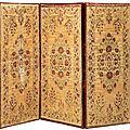 Trois grands velours de brousse. turquie, xviiie - xixe siècle