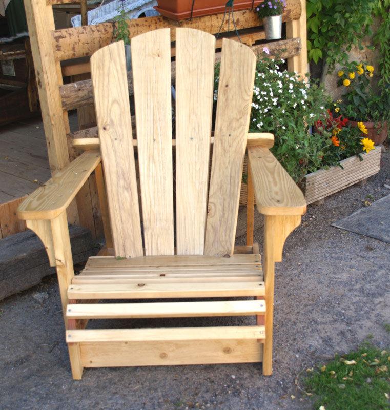 le fauteuil fabriqué par José pour déguster le sirop