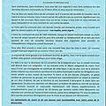 Flyer distribué dans les boîtes aux lettres à partir de ce 4 novembre par les élus démissionnaires de la mairie