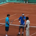 Roger Federer / Fernando Gonzalez / L'arbitre...