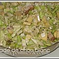 Salade de chou blanc et pommes
