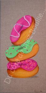 3 donuts rose et vert
