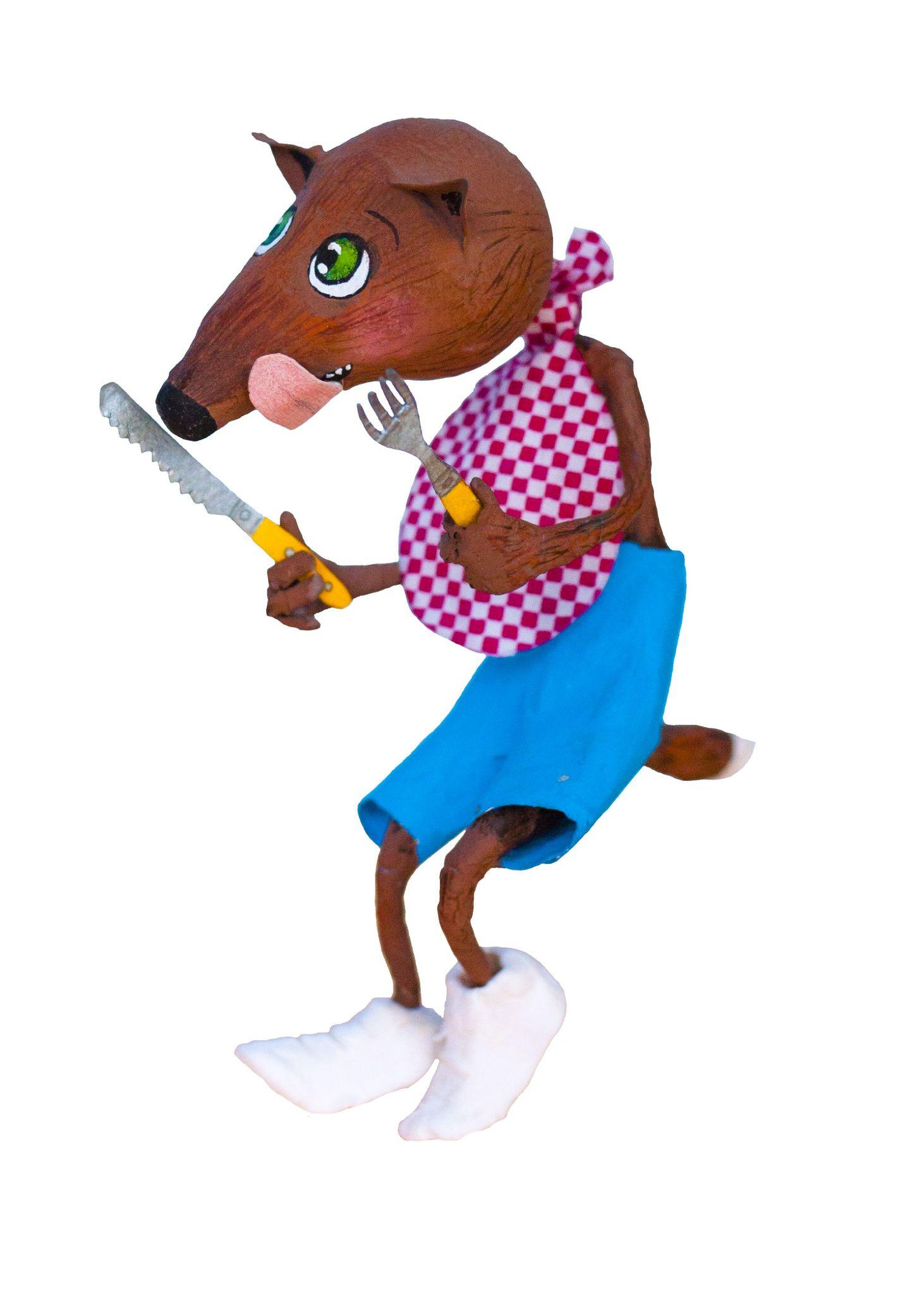 Loup fourchette couteau