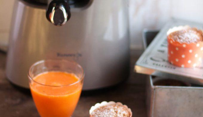 Muffins à la carotte, vanille et clémentine