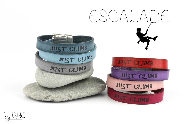 bracelets cuir ESCALADE