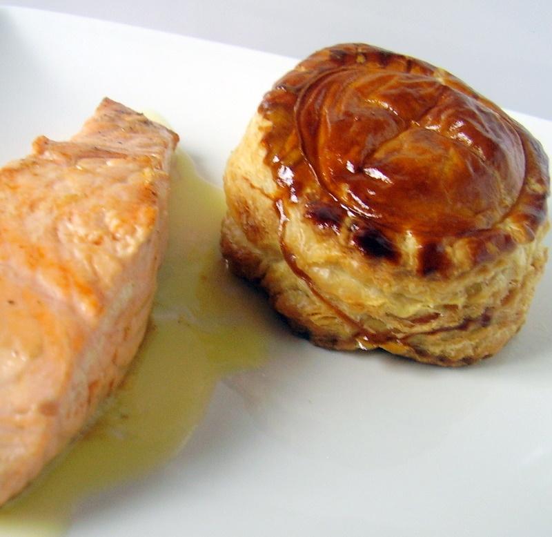 feuilletés aux légumes - saumon poêlé 008