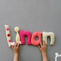 linon,mot en tissu,mot decoratif,cadeau de naissance,decoration chambre d'enfant,cadeau personnalise,cadeau original,poc a poc blog
