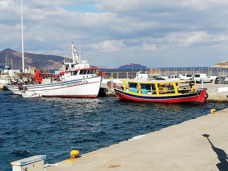 Crete, port d'Agios Nikolaos