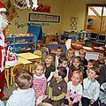 La première visite du Père Noël dans notre école, en 2012