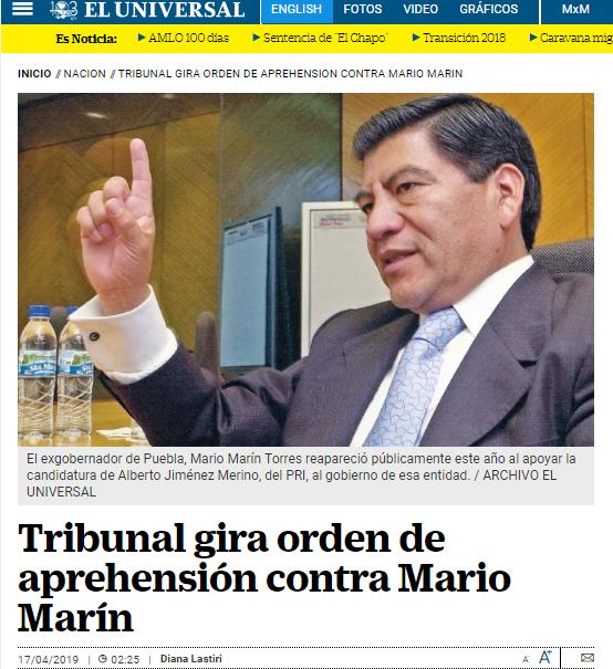 2019-04-17 20_08_06-Tribunal gira orden de aprehensión contra Mario Marín