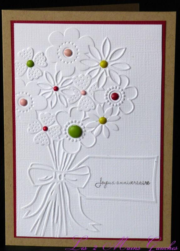 carte d'anniversaire avec bouquet de fleurs coloré