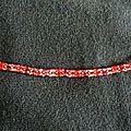 Bracelet double facettes tons Siam 1/2