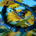 Collier bleu