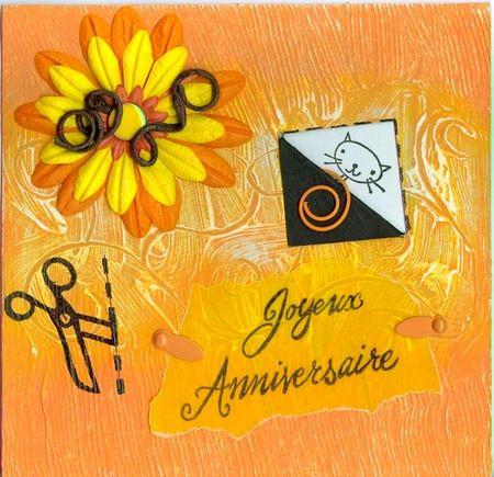 Carte anniversaire Mamounette