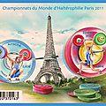 Bloc 2 timbres -Championnats du monde d'Halterophilie PARIS 2011