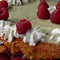 Gâteau à la framboise de fête