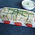 Terrine aux deux poissons et ses legumes, sauce verte