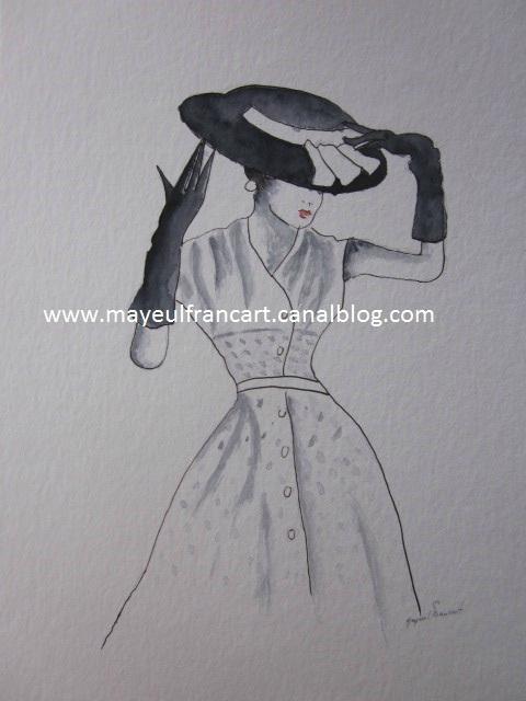 """La femme au chapeau II"""