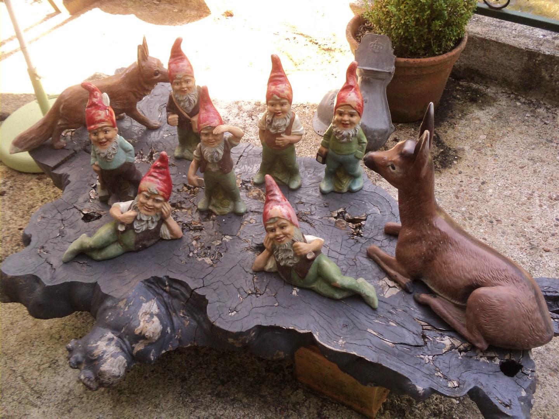 Anciens nains de jardin de collection terre cuite polychrome vers 1960 1970 virtual broc - Nain de jardin en terre cuite ...