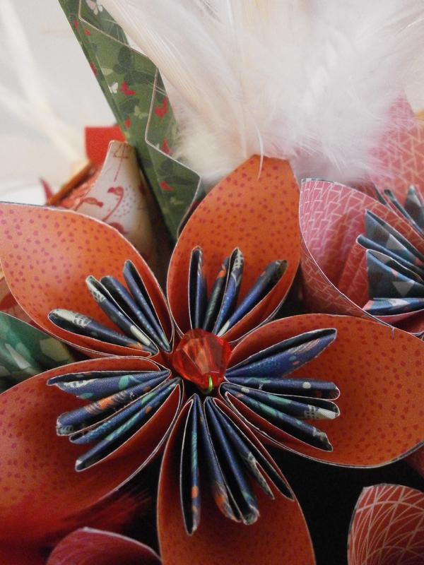 bouquet de fleurs origami 012