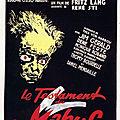 Le testament du docteur mabuse (naissance du film noir)