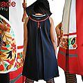 Robe trapèze Tendance Printemps 2014 rouge/ noire/ blanc ... graphique !