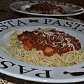 Spaghetti bolognaise 4.5 pp/pers.