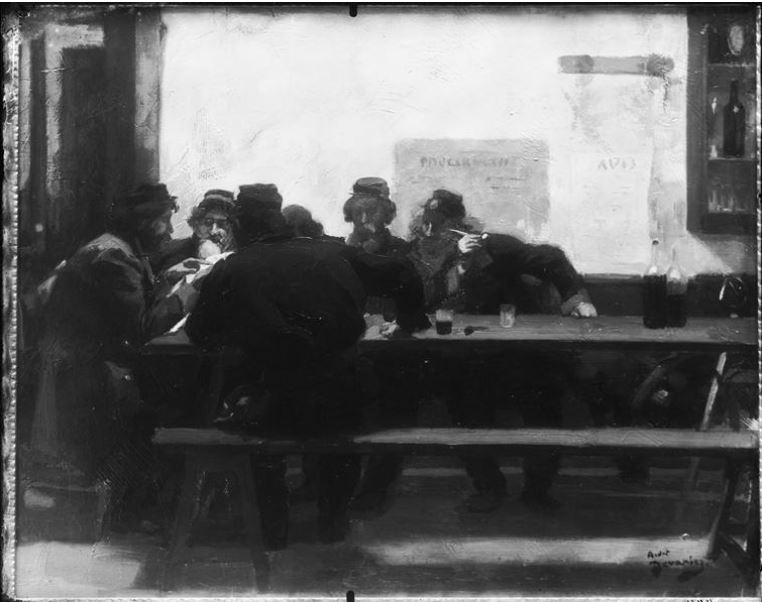 Devambez, Lecture du Père Duchesne 1871 (1913)