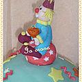 Modelage clown pâte à sucre