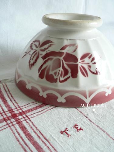 Bol 50 fleur rouge 15,5 cm