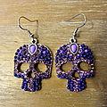 Skull & Strass violet 25 euros
