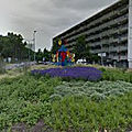 Rond-point à hoofddorp (pays-bas)