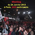 MEETING DU 24 JANVIER 2013 A PARIS