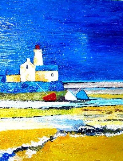 Fabuleux Bord de mer (peinture au couteau) - Photo de 01 Peintures - Mes p &JZ_18