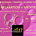 Evenement ==> atelier d'initiation à la meditation
