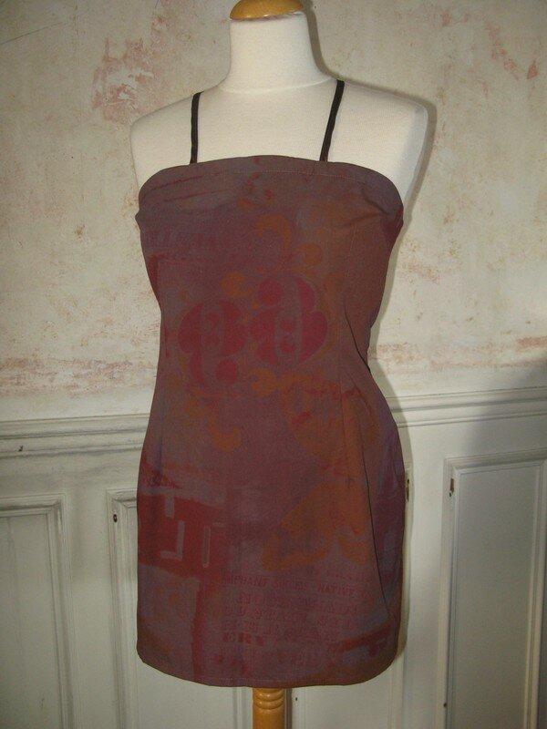 robe tablier bordeaux