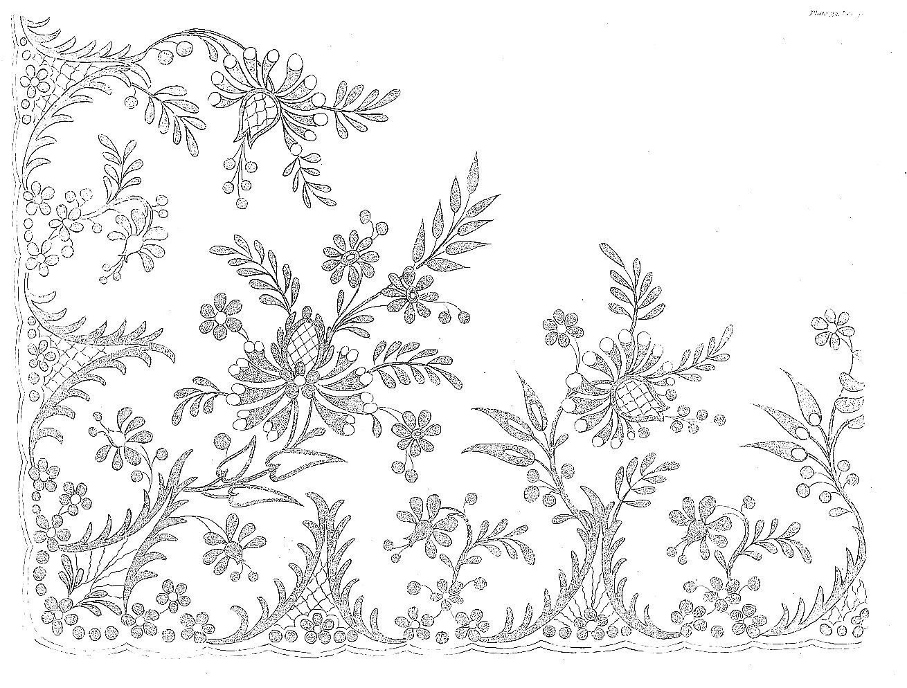 1813 Regency Needlework Pattern 4 April 1813