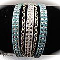 Bracelets cordons cuir