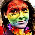 Un dégradé de couleur et de bonne humeur... c est un peu ça le carnaval...