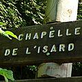 01 départ pour la chapelle de l'Isard et l'étang d'Arraing