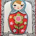 ♥ lyla ♥ broche tissu matriochka poupée russe - les yoyos de calie