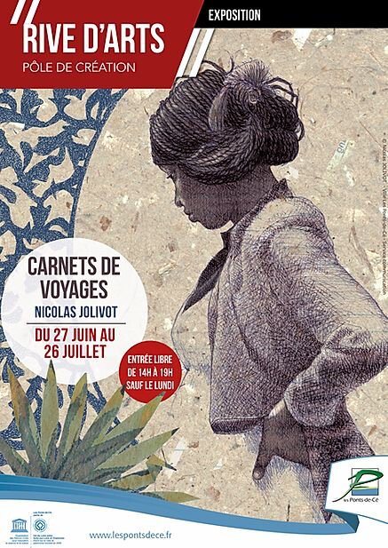 A3 expo Carnets de voyages Nicolas Joliv