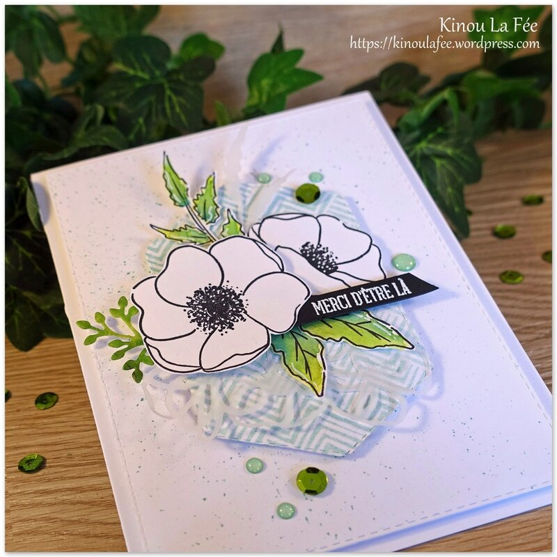 Carte Painted Poppies Blancs 3