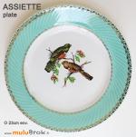 ASSIETTE-plate-BADONVILLER-Oiseaux-muluBrok-Vintage